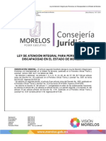 Ley de Atención Integral Para Personas Con Discapacidad en El Estado de Morelos