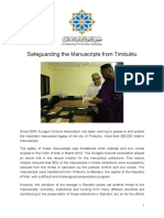 Anex 2 Report on the Timbuctu Manuscripts Collection.azzagra Cultural Foundation 2016 Copy