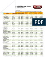 Lista de Precioscorabastos