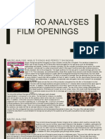 Macro Analyses of Film Openings