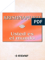 Usted Es El Mundo - Jiddu Krishnamurti