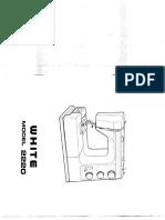 Singer Sewing Machine Model White 2220 Manual
