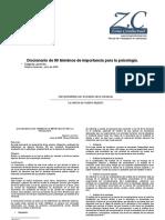 Diccionario de 90 Terminos de Importancia- Para La Psicologia