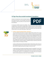 10 Tips for Successful Investment Committees