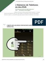 3 Formas de Discar Números de Telefones Internacionais Dos EUA