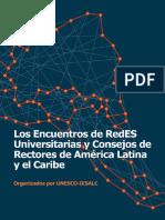 Los Encuentros de Redes Universitarias y Consejos de Rectores de America Latina