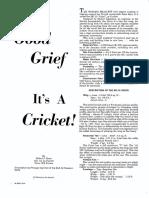 Cricket Articles