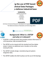 Assessing the Use of PDF Based 3D Technical Data Packages Within the Defense Industrial Base