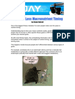Macronutrient Timing