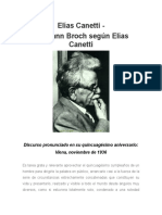 Elías Canetti - Hermann Broch Según Elías Canetti