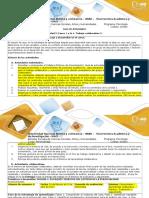 Guía de Actividades y Rúbrica de Evaluación. Trabajo 2. Fases 1-4