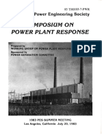 IEEE PES Symposium on Power Plant Response