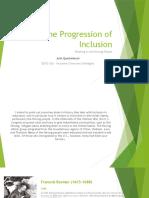 the progression of inclusion