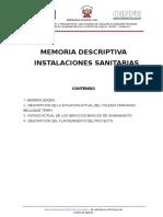 Memoria Descriptiva IS Colegio Huanuco