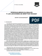 Desequilibrios Globales y Las Lecciones de Bretton Woods