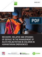 Recovery, Relapse, and Episodes of Default in the Management of Acute Malnutrition in Children in Humanitarian Emergencies