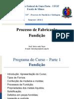MEC 107 - Fundição - Slides de Aula 2016.1