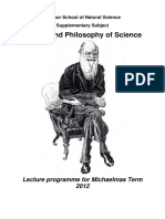History of Philosophy of Sci