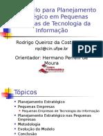 Modelo Para Planejamento Estratégico Em Pequenas Empresa de Tecnologia Da Informação