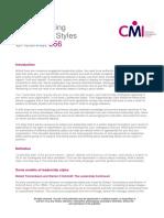 CMI Understand Leadership Styles