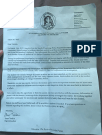 Letter to parents of Los Amigos Elementary students