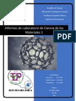 Informes de Laboratorio ciencias de materiales