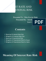 Interest rate and operational risk