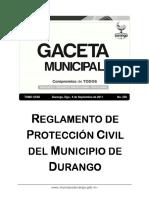 258 Reglamento de Proteccion Civil Del Municipio de Durango