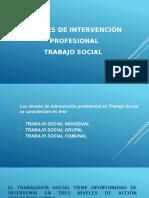 Niveles de Intervención Profesional Trabajo Social