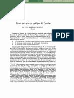 Teoria Pura y Teoria Egologica Del Derecho