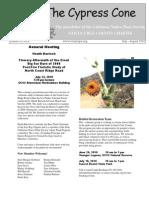 July-August 2010 The Cypress Cone, Santa Cruz Native Plant Society