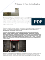 Limpieza De Casas Y Limpieza De Pisos. Servicio Limpieza Madrid.