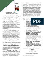 nov  14-18 2016 newsletter