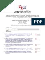 Michigan Legislature Questionnaire