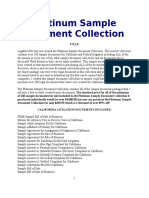 Platinum Sample Document Collection