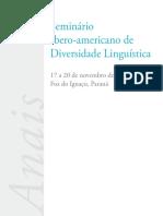 Anais5 Seminario Iberoamericano de Diversidade Linguistica