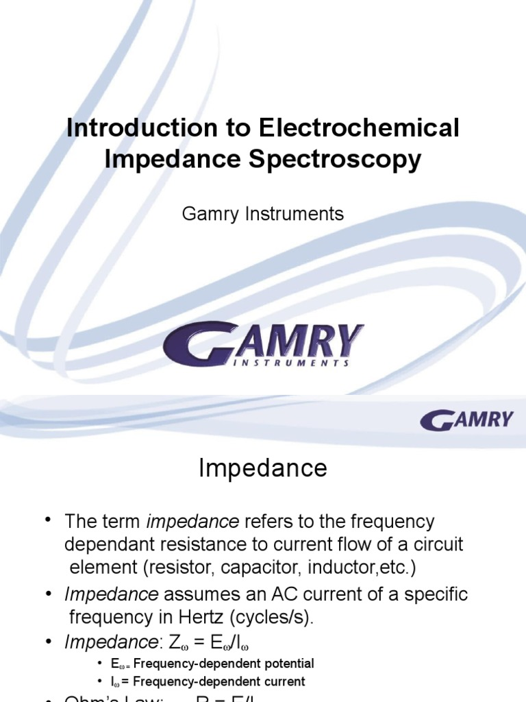 Basics Of Electrochemical Impedance Spectroscopy Electrical Frequencydependent Circuits Electronic Engineering