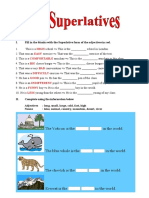 Comparatives and Superlatives Exercises