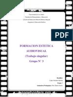 Trabajo Singular. Formacion Estetica Audiovisual