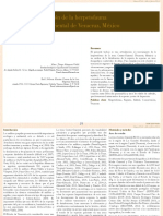 Listado y Distribución de La Herpetofauna