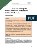 Opinion de Las Firmas Auditoras de La Nueva Irfs 16