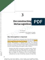 deconstructing metacognition
