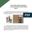 Begini 3 Tips Paling Mudah Membuat Kerajinan Kotak Pensil Dari Botol Plastik Bekas