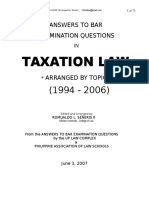 189510169 1994 2006 Bar Exam Question in Taxation