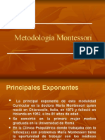 Método Montessori en Power-Point