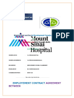Mount Sinai Community Hospital -Employment Contract Agreement Letter