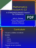 Curriculum Jeremy Kilpatrick and John Dossey