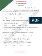 JEE Main Model Paper1