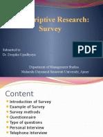 Descriptive Research Anjali