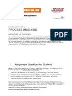 Process Analysis Quiz